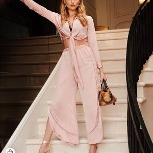 Vitoria's Secret Satin Wrap Top Pink